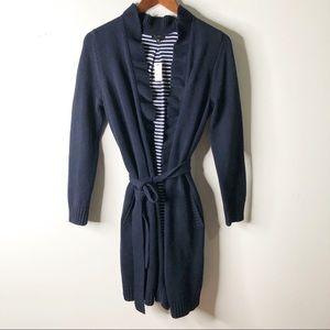 TALBOTS Open Front Long Knit Cardigan
